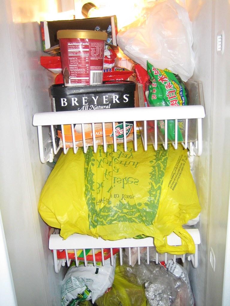 Freezer shelves, A and B