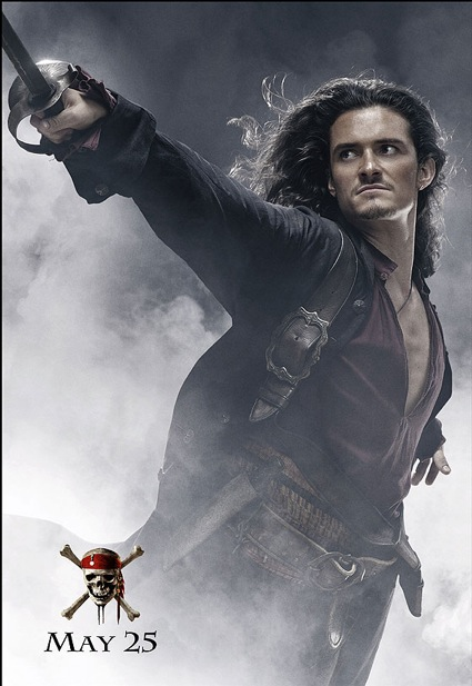 pirates of the carribean at worlds end Will Turner poster Orlando Bloom