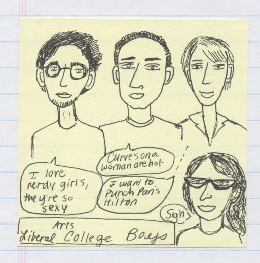 College B- Post it