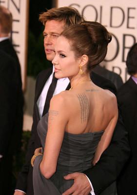 Brad Pitt y Angelina Jolie en la alfombra roja