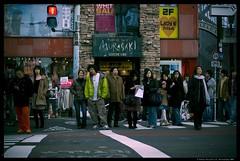 Mixed bag crossing (Nate-san) Tags: life street japan japanese tokyo candid strangers documentary nikond50 dslr peope semicandid nikor1855 nikor70300zoom
