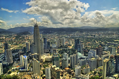 Kuala Lumpur from the Air (Stuck in Customs) Tags: city sky building skyline clouds photography nikon downtown cityscape photographer skyscrapers towers d2x malaysia kualalumpur hdr highquality d2xs stuckincustoms treyratcliff