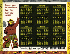 1957 Smokey the Bear Calendar
