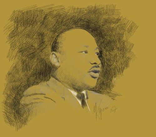 Martin Luther King Jr. by medium as muse.