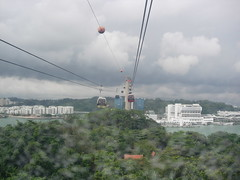 Cable car from Sentosa