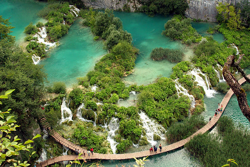 Lake Birds Eye View Bird's Eye View of Plitvice's