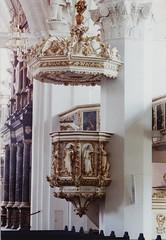 Celle, Niedersachsen, Stadtkirche, pulpit (groenling) Tags: angel john globe christ eagle jesus luke adler lucas ox lamb marienkirche engel johannes pulpit celle christus ochs erde kanzel niedersachsen lamm stadtkirche