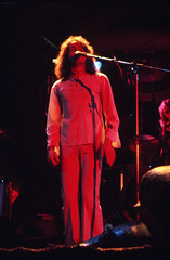 YES: 3/14/74 - Jon Anderson (SheldonBranford (RichGreenePhotography.com)) Tags: music rock 1974 concert yes longhair albuquerque spotlight microphone ektachrome jonanderson thepit classicrock richgreenephotography
