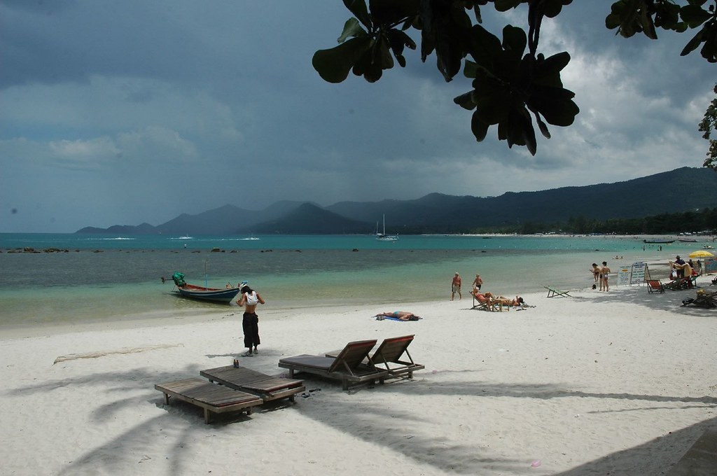 Chaweng Beach -- white sand, brown tourists