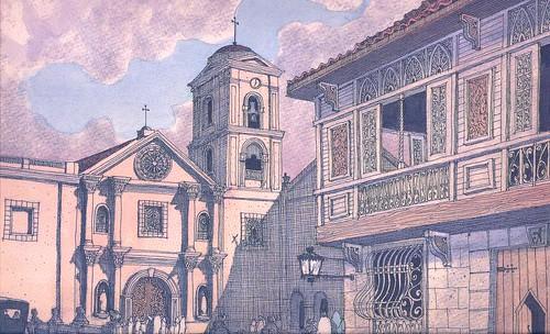 San Sebastian Church Drawing San Agustin Church And