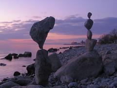 rockbalance (Heiko Brinkmann) Tags: sculpture water germany deutschland evening stones pebbles balance bodensee balancing rockbalancing lakeconstance badenwuerttemberg blueribbonwinner pebblebalancing