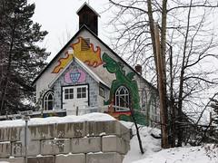 Catholic Church - 1940 (Bob_2006) Tags: old building heritage church geotagged fire mural dragon small flame cupola telkwa geo:lat=54698 geo:lon=12705