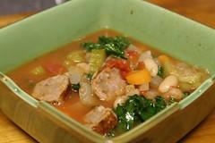 white bean & sausage italian soup