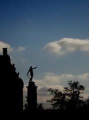 Silhouettes (Kirsten M Lentoft) Tags: sky cloud silhouette statue denmark hillerød hilleroed frederiksborgcastle momse2600 denmarkdinamarca kirstenmlentoft