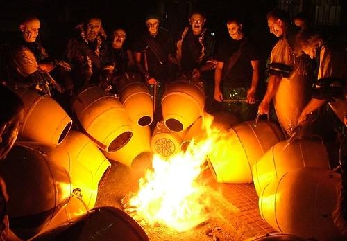 Tambores calentando