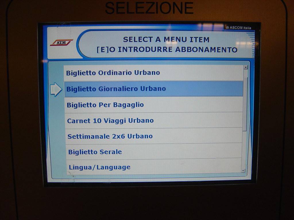 Tudo em italiano...