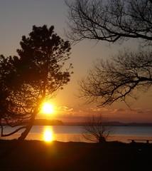 February Sunset 2 (Kirsten M Lentoft) Tags: sunset sky lake water denmark arresø arresoe momse2600 kirstenmlentoft