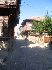 Typical street and houses, Sozopol, Bulgaria