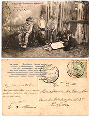 Vintage Postcard 1907 (CGoulao) Tags: auto old playing classic portugal car vintage paper children kid automobile post mail accident antique lisboa postcard garoto 7 card disaster oldphoto brincar postal criana papel papier ancienne antigo acidente 1907 clssico correio desastre postalcard tarjetapostal postkard cartepostal bilhetepostal