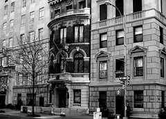 5th Ave buildings (Texas Finn) Tags: nyc newyorkcity windows blackandwhite newyork architecture buildings 5thavenue manhatten