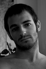 Claudio (Kalense Kid) Tags: portrait blackandwhite bw man beard piercing claudio whiteandblack earstud