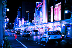 Gion blues (manganite) Tags: street city pink blue light streets cars topf25 colors japan night digital buildings geotagged lights interestingness nikon kyoto colorful asia neon nightshot tl blues streetscene explore shops lookatme  onecolor nippon gion d200 nikkor dslr kansai nihon thecolorblue streetshot 50mmf18 interestingness96 i500 utatafeature manganite nikonstunninggallery challengeyou challengeyouwinner cyniner geo:lat=35004612 geo:lon=135769236 date:year=2006 date:month=august date:day=26