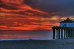Dusk62 - HDR (michaeltucker) Tags: ocean california sunset beach pier socal manhattanbeach interested southbay hdr
