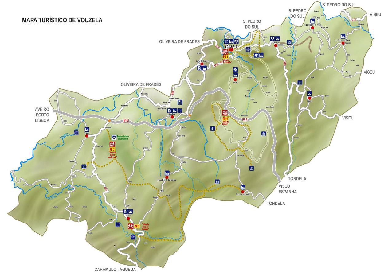 caramulo mapa Pedestrianismo e Percursos Pedestres: Percurso Anual do blogue  caramulo mapa