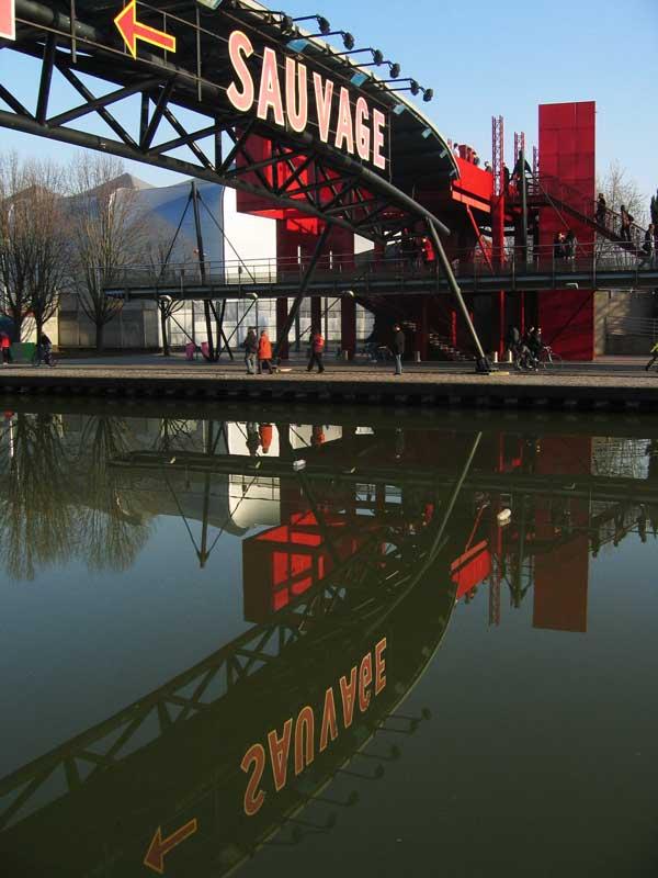 Canal de l'Ourcq dans le Parc de la Villette