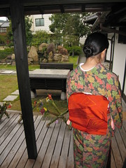 Girl in Kimono (jasonkrw) Tags: girl japan garden japanese kimono