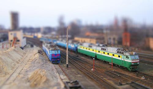Sortirovka station - faked tilt-shift lens