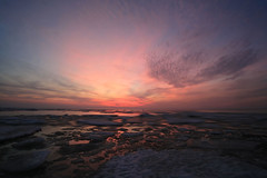 Meltdown (laszlo-photo) Tags: winter ohio sky ice night canon landscape eos lakeerie cloudy cleveland headlands 5d erie fairportharbor anawesomeshot impressedbeauty