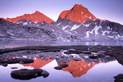 JMT Mile 84 - Sapphire Lake (NaturalLight) Tags: california park lake mountains nevada sierra national alpenglow sapphire kingscanyon johnmuirtrail specland shieldofexcellence sierravisions