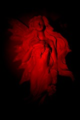 Angel of Sadness (Ewciak & Leto) Tags: red sculpture black angel dark sadness sad darkness gothic dream fantasy emotions legend canoneos350d abigfave colorphotoaward v401500 v101200 v76100 v501600 v701800 v201300 castlesdreams goldenphotographer v301400 v801900 v9011000 v10001250 v12501500 v15001750 v17502000 v20002500