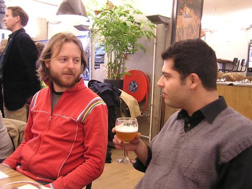 Geek dinner Amsterdam: Tijs and George