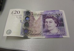 New 20 pound note - front