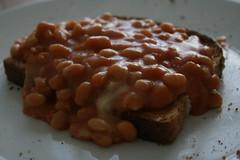 Cheesy beans on toast (Igor Clark) Tags: food cheese beans toast snack bakedbeans cheesy cheesey beansontoast cheesybeans cheeseybeans snackerel snackerelofsomething