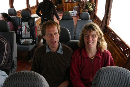 Herman (Holland) and Anne (Norway) on the Mekong boat