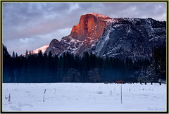 The Last Glow (Thi) Tags: yosemite halfdome curryvillage yosemitewinter