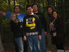 20061014 - Camping with Misfit & Kali - 107-0771 - Group photo, including cats