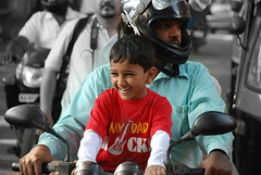 Happy boy (bharathiclick) Tags: boy red bike happy