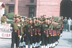 Ghurka jawans (sftrajan) Tags: india military newdelhi nct pageantry  changingtheguard  ghurkas