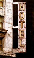 Hotel (DodgeMedlin) Tags: california urban usa typography sandiego colorart 1220112156pst
