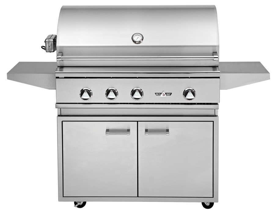 DHGB38-C 38″ A Delta Heat Premier Grill on a base brings a touch of outdoor lifestyle to any patio or deck. These grill bases are designed with utility and longevity in mind. Grill and Grill Base are sold separately.