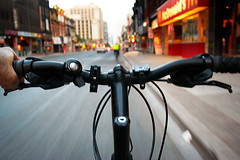 on bike (wvs) Tags: street motion blur bike speed yonge bikebyshooting wvs ddoi bestbbs