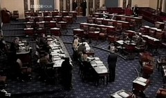 An almost empty US Congress before the Invasio...