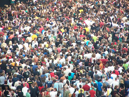 Crowd close-up