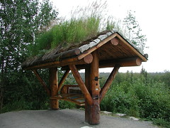 Sod roof, Alaska 1 001 (Anita363) Tags: sign alaska funny humor august denali parkshighway sodroof denalistatepark ia3 interstatea3