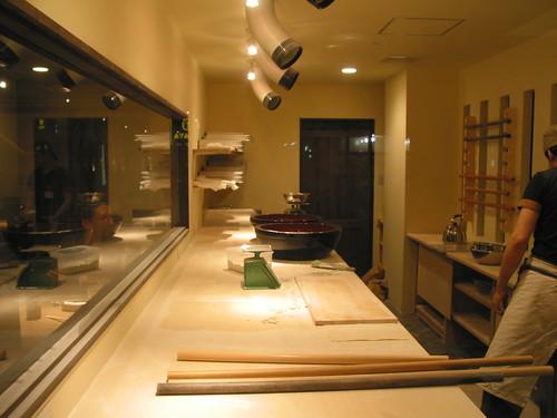 Kyoto. Very stylish soba studio.