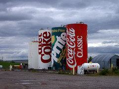 Obey Your Thirst (k.james) Tags: signs sign rural ads advertising logo corporate farm sprite coke roadtrip billboard silo idaho americana